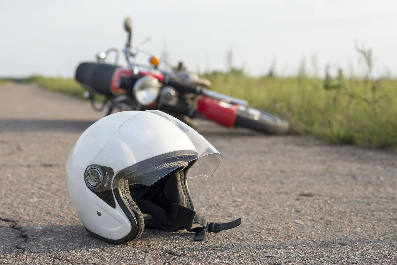 Unsafe line change - motorcycle accident